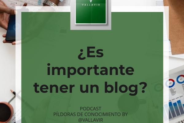 importante tener un blog