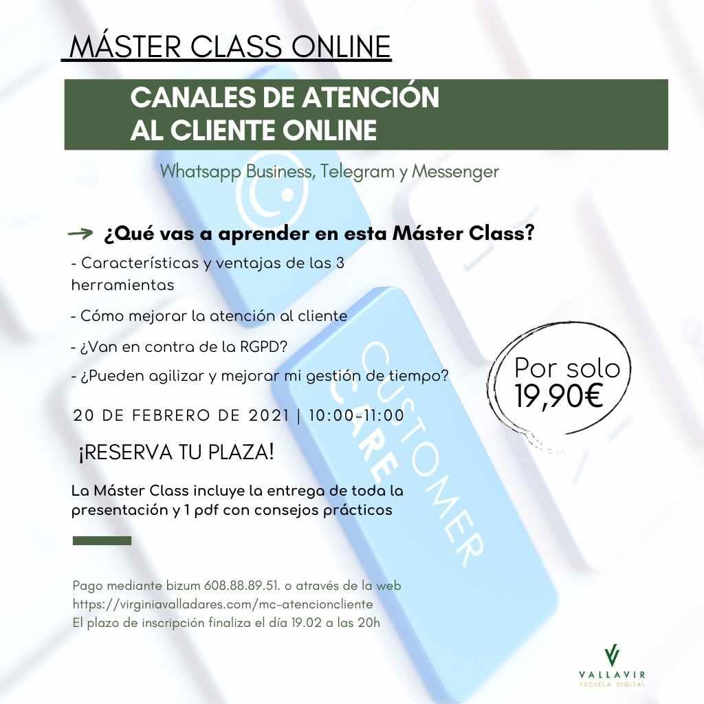 MC canales de atención al cliente online